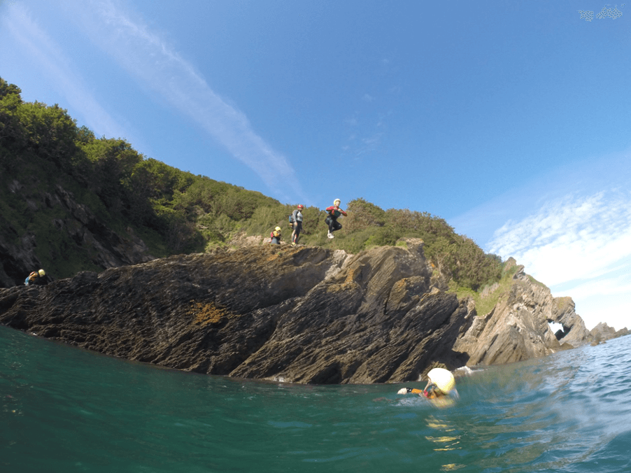 coasteering with nick thorn in North Devon woolacombe