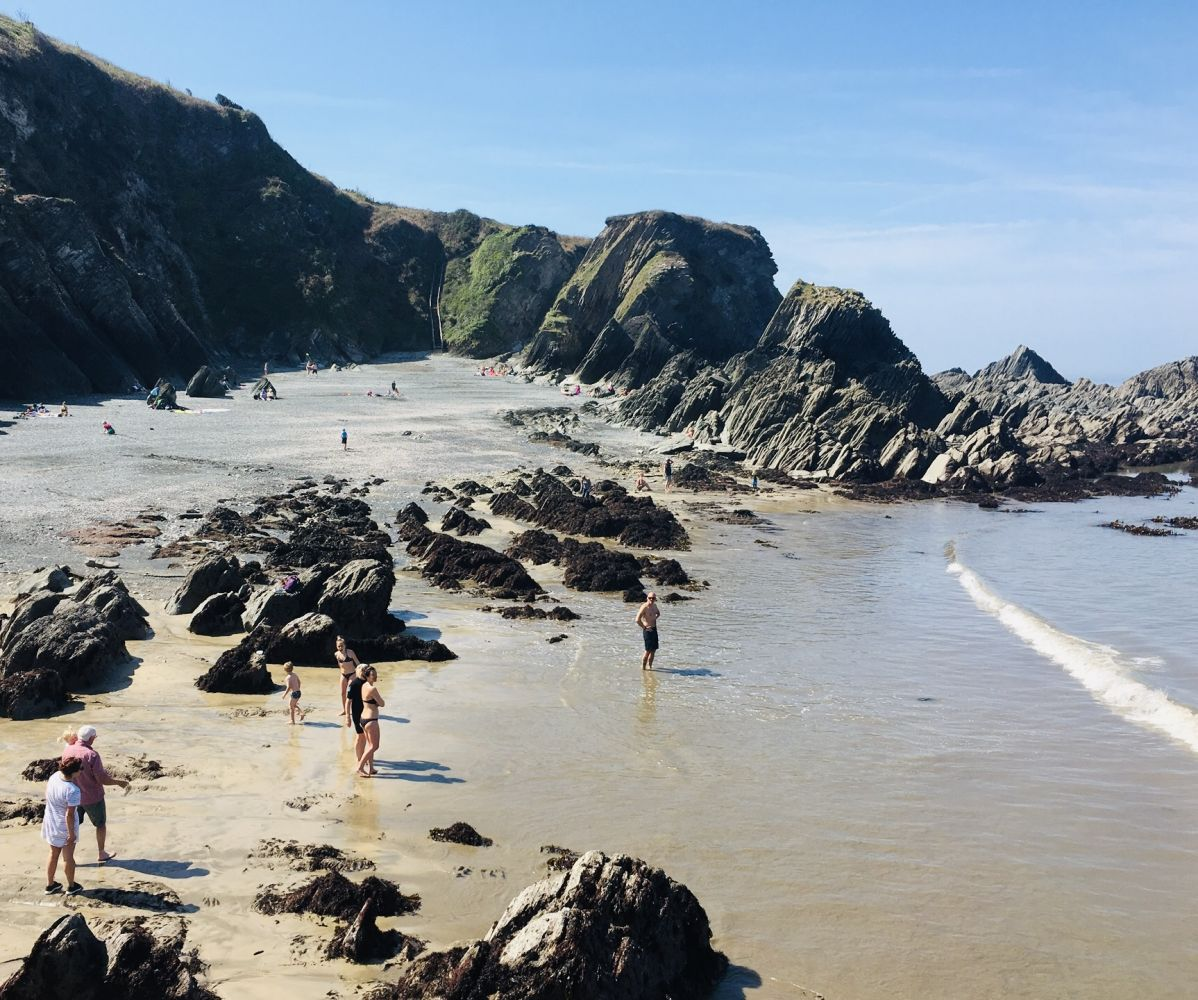 explore the rock pools at sandy cove and lee bay in north devon