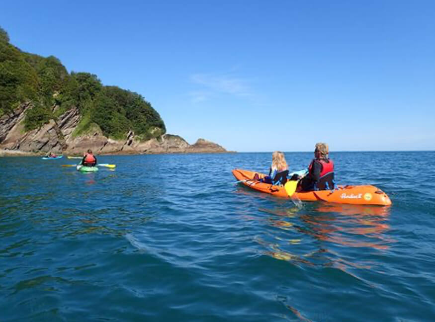 kayaking in Combe Martin