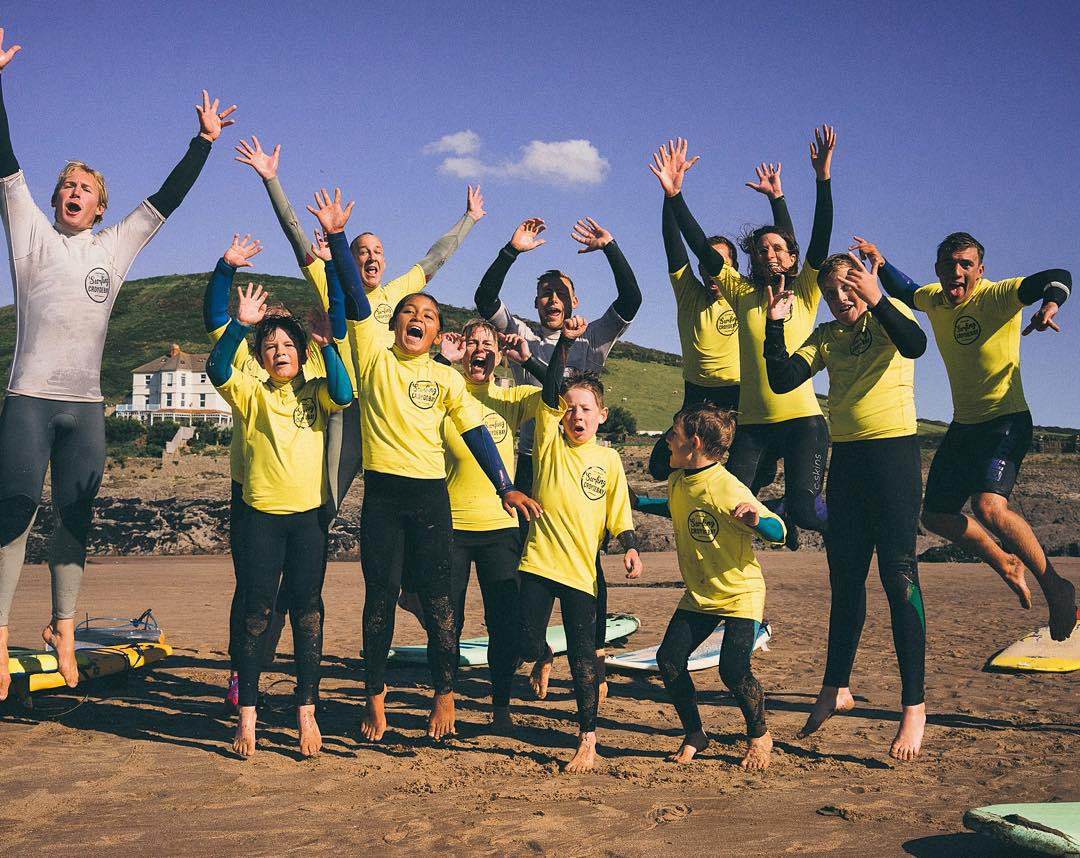 surfing croyde bay - a great surf school in North Devon