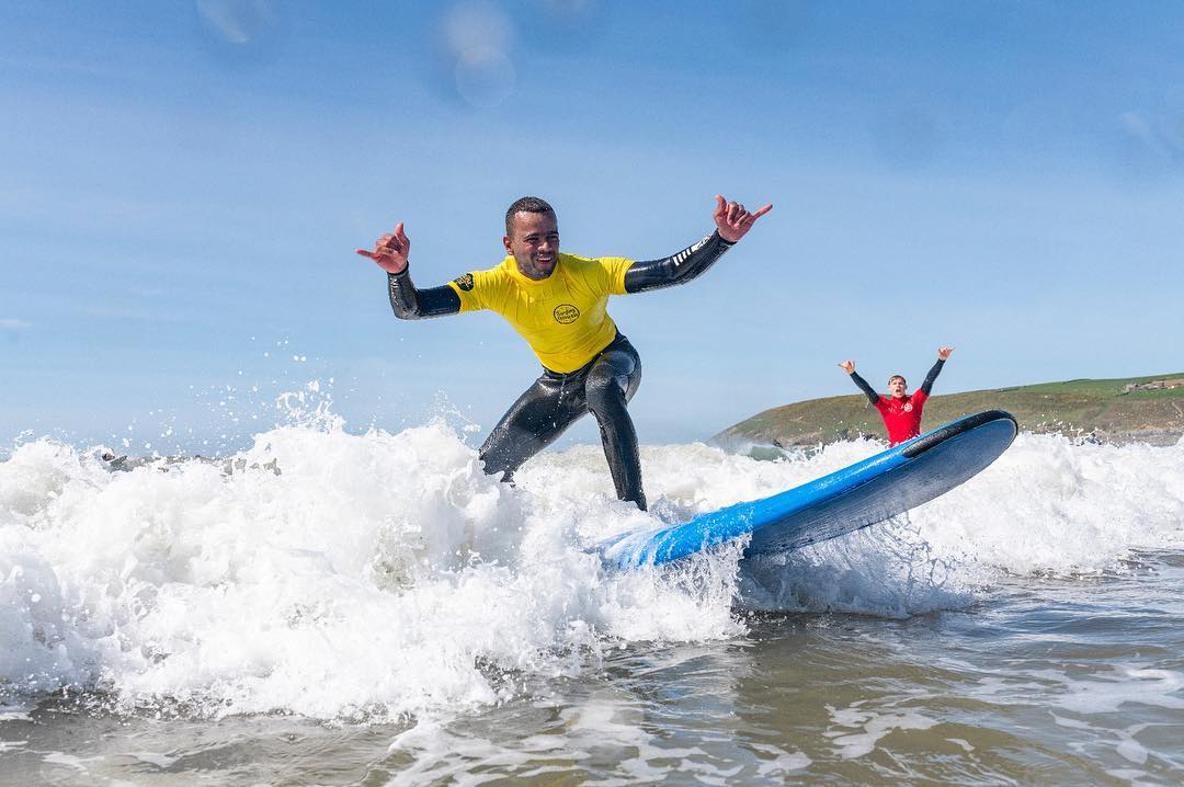 Learning to surf in Croyde North Devon - one of the best surfing spots in the country