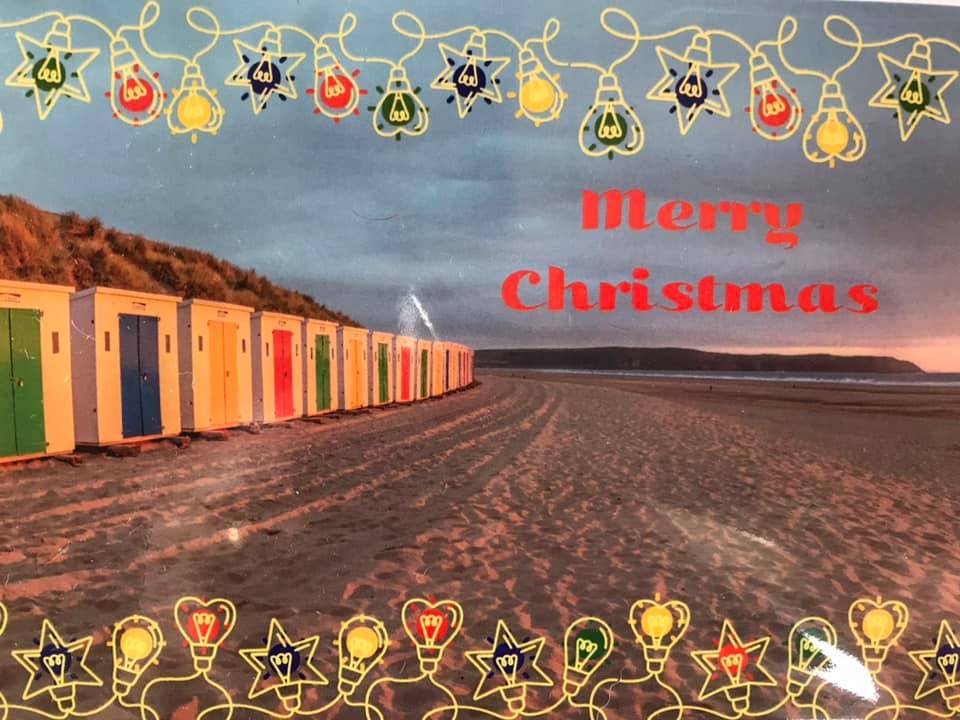 merry Christmas woolacombe card