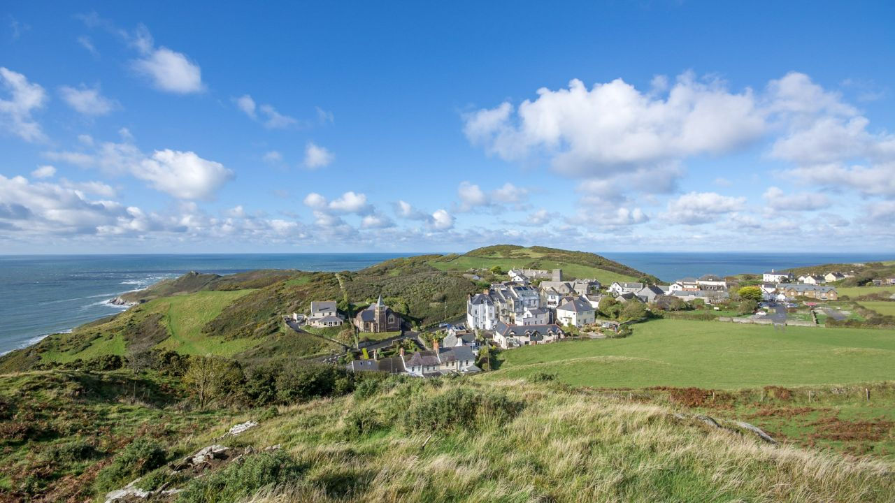 walk to Mortehoe Village in North Devon