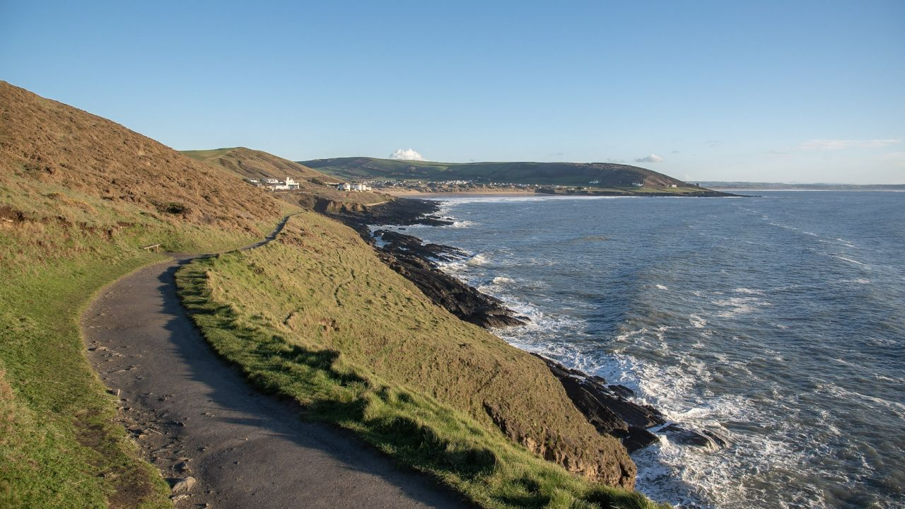 wak to baggy point in croyde north devon