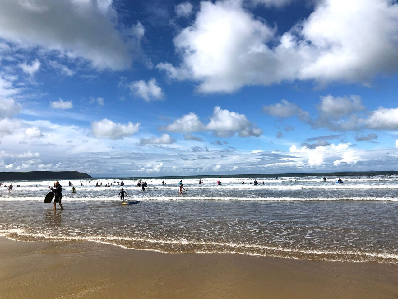 UK staycation at woolacombe beach